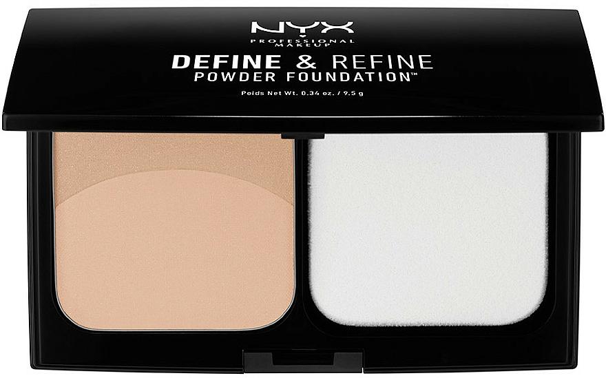 Puder-Foundation - NYX Professional Makeup Define Refine Powder Foundation