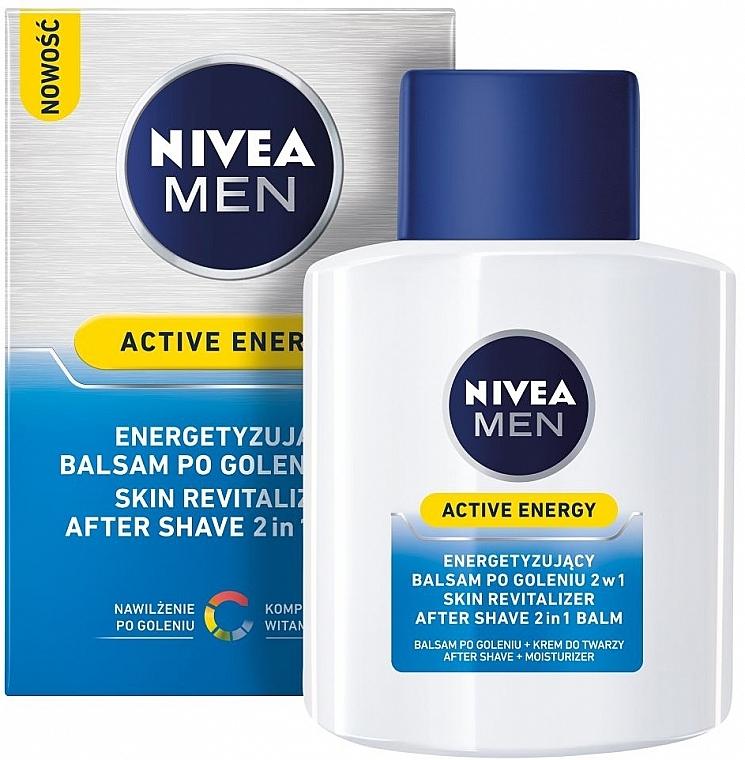 After Shave Balsam 2in1 - Nivea For Men Active Energy Skin Revitalizer After Shave Balm — Bild N1