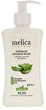 Düfte, Parfümerie und Kosmetik Gel für die Intimhygiene mit Milchsäure und Aloe Vera-Extrakt - Melica Organic Intimate Hygiene Wash