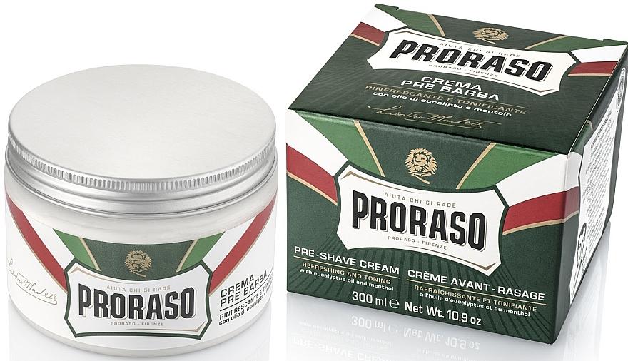 Pre Shave Creme mit Menthol und Eukalyptus - Proraso Green Pre Shaving Cream