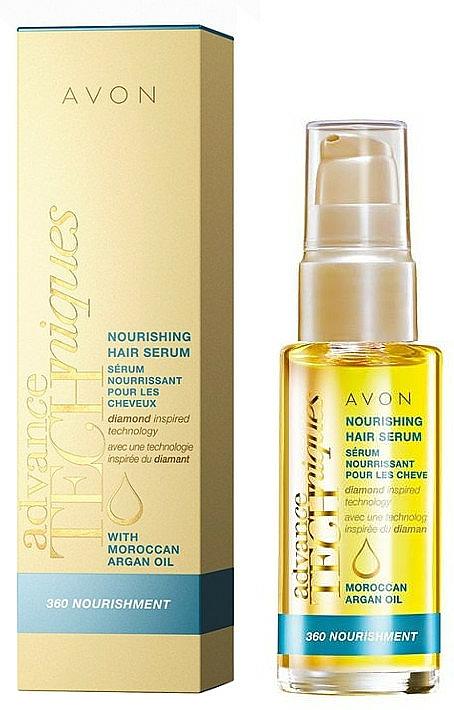 Pflegendes Haarserum mit marokkanischem Arganöl ohne Ausspülen - Avon Advance Techniques 360 Nourish Moroccan Argan Oil Leave-In Treatment