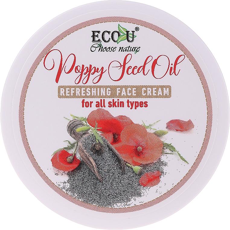 Erfrischende Gesichtscreme mit Mohnöl für alle Hauttypen - Eco U Poppy Seed Oil Refreshing Face Cream For All Skin Type