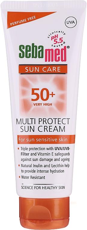 Regenerierende und feuchtigkeitsspendende Sonnenschutzcreme für das Gesicht SPF 50 - Sebamed Multi Protect Sun Cream SPF 50 — Bild N1
