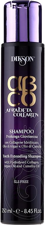 Regenerierendes Shampoo mit Kollagen und Kamelienöl - Dikson ArgaBeta Collagen Youth Extending Shampoo
