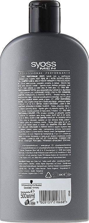 Shampoo für normales bis fettiges Haar - Syoss Men Cool & Clean Shampoon — Bild N2
