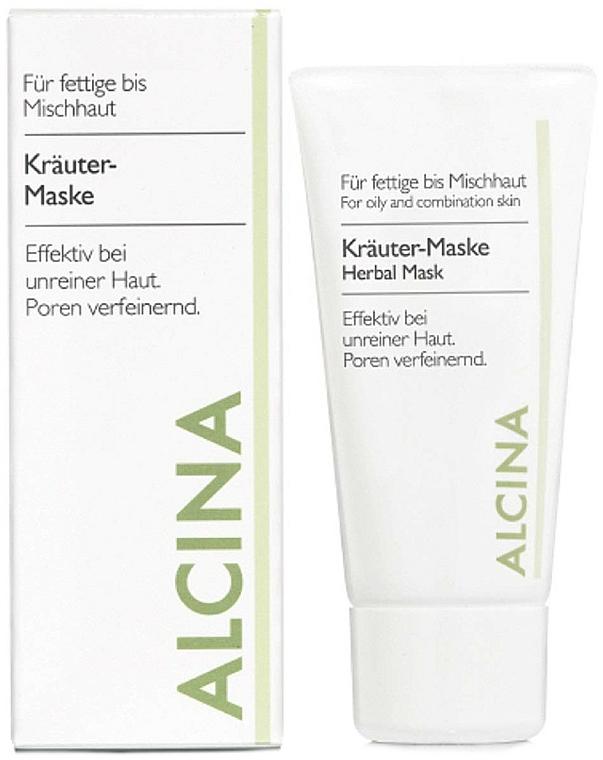 Porenverfeinernde Kräuter-Gesichtsmaske mit Pflanzenextrakten für fettige bis Mischhaut - Alcina Herbal Mask