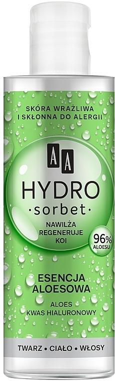 96% Aloe Vera Essenz für Gesicht, Körper und Haare - AA Hydro Sorbet Aloe Essenc 96%