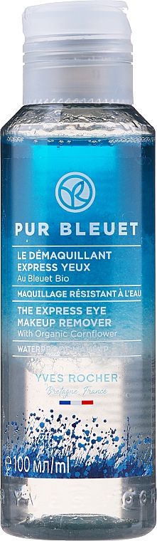 2-Phasiger Augen-Make-up Entferner mit Bio Kornblume - Yves Rocher Pur Bleuet The Express Eye Make Up Remover