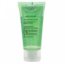 Düfte, Parfümerie und Kosmetik 2in1 Shampoo und Duschgel gegen übermäßiges Schwitzen - SVR Spirial Deo-Douche Deodorizing Cleansing Gel (Mini)