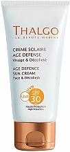 Düfte, Parfümerie und Kosmetik Anti-Aging Sonnenschutzcreme für Gesicht und Dekolleté SPF 30 - Thalgo Age Defence Sun Cream SPF 30