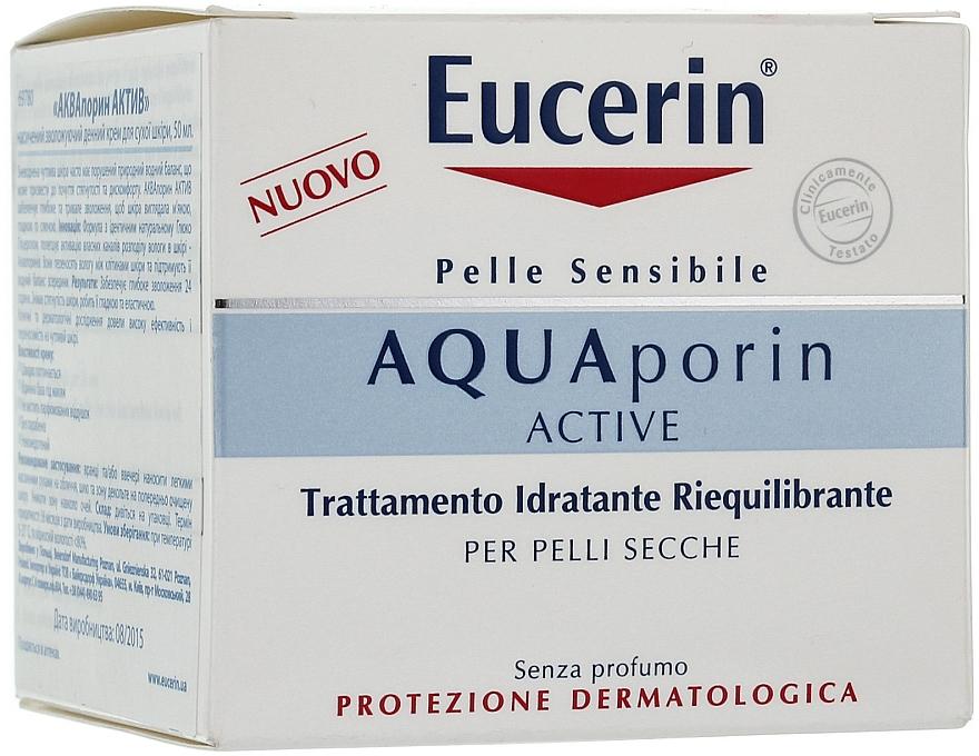 Tief feuchtigkeitsspendende Gesichtscreme für trockene Haut - Eucerin AquaPorin Active Deep Long-lasting Hydration For Dry Skin