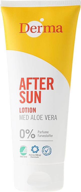 After Sun Körperlotion mit Aloe Vera - Derma After Sun Lotion Med Aloe Vera