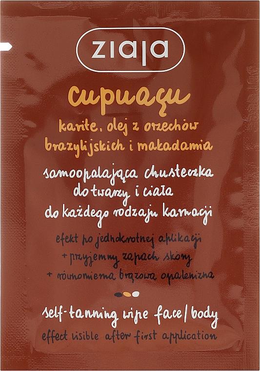 Selbstbräunungstuch für Gesicht und Körper - Ziaja Cupuacu