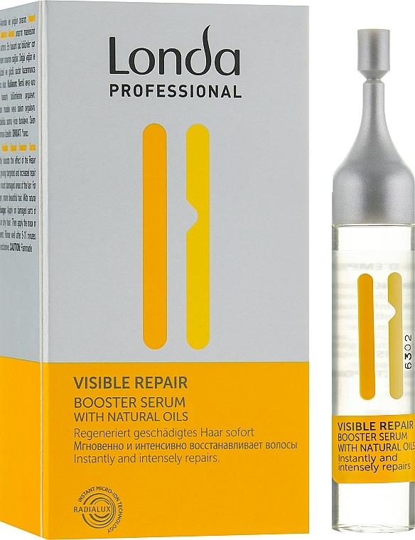 Intensiv regenerierendes Haarbooster-Serum mit natürlichen Ölen für geschädigtes Haar - Londa Professional Visible Repair Serum — Bild N1