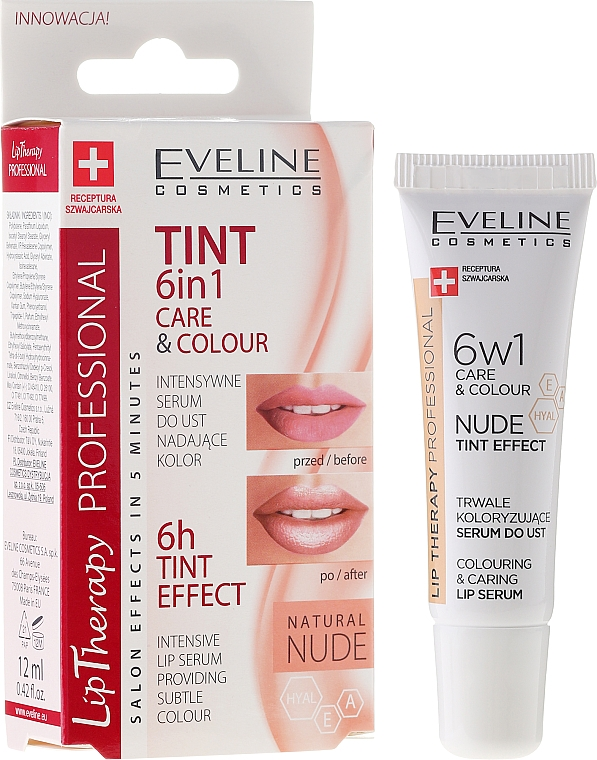 6in1 Intensives Lippenserum - Eveline Cosmetics Lip Therapy Proffesional Tint