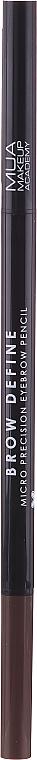 Augenbrauenstift - MUA Brow Define Micro Eyebrow Pencil (Mid Brown) — Bild N2
