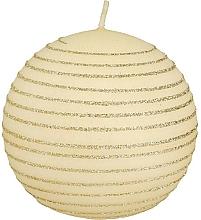 Düfte, Parfümerie und Kosmetik Dekorative Kerze 10 cm Creme - Artman Andalo Decorative Medium Ball Candle Cream