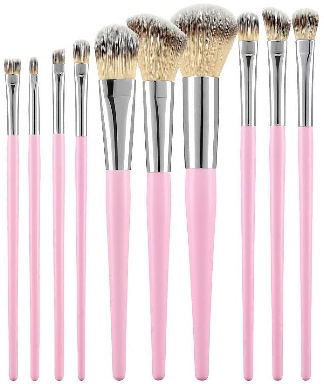 Make-up Pinsel-Set rosa 10 St. - Tools For Beauty