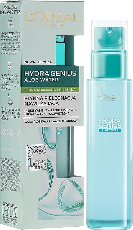 Feuchtigkeitsspendendes Aloe-Wasser für normale bis Mischhaut Haut - L'Oreal Paris Hydra Genius Aloe Water