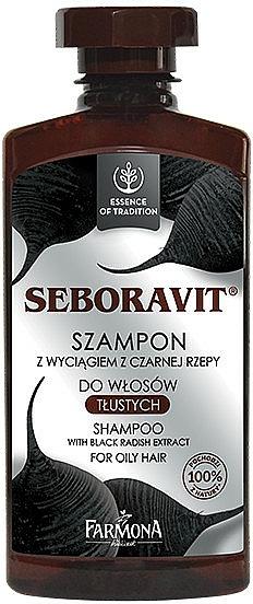 Shampoo für fettiges Haar mit schwarzem Rettich - Farmona Seboravit Shampoo