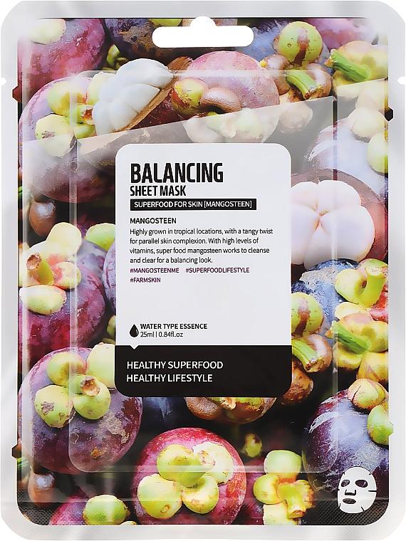 Ausgleichende Tuchmaske mit Mangostan-Extrakt - Superfood For Skin Balancing Sheet Mask