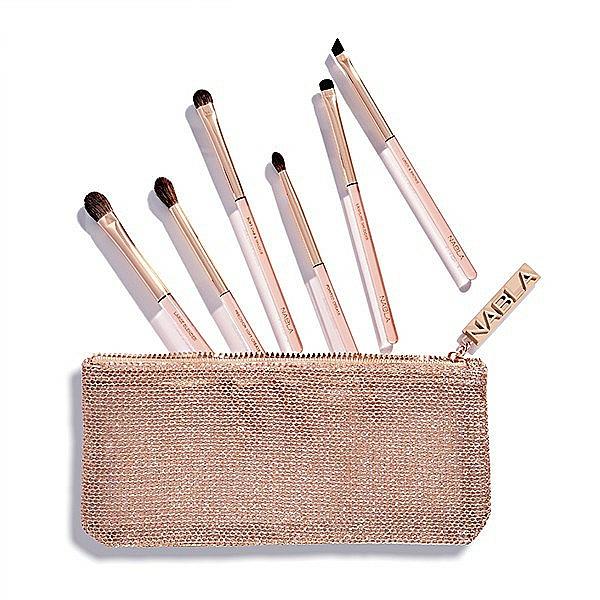 Make-up Pinselset in Kosmetiktasche - Nabla Denude Eye Brush Set — Bild N1