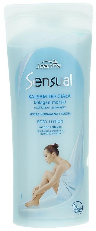 Körperlotion mit Meereskollagen für normale bis trockene Haut - Joanna Sensual Marine Collagen Balsam