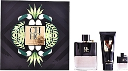 Düfte, Parfümerie und Kosmetik Carolina Herrera CH Men Prive - Duftset (Eau de Toilette 100ml + After Shave Balsam 100ml + Mini 7ml)