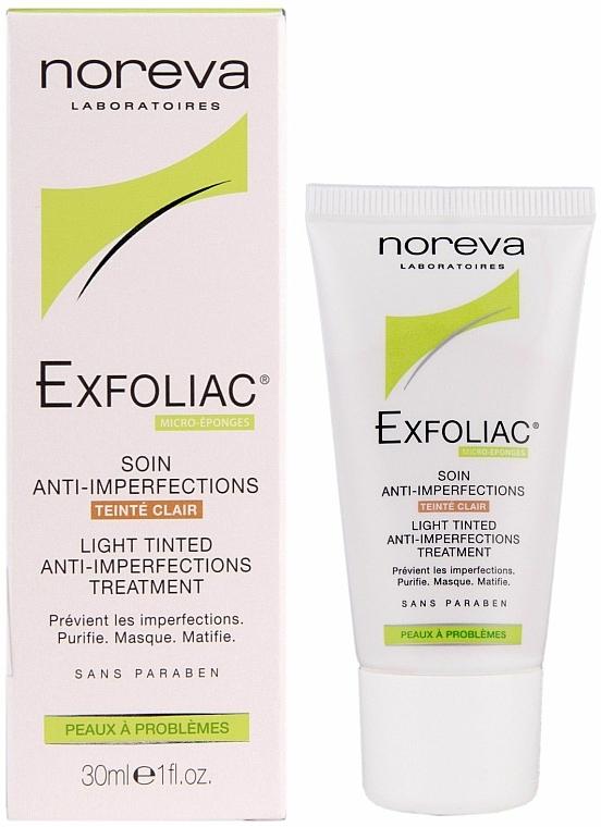 Leichte getönte Gesichtscreme gegen Hautunreinheiten - Noreva Laboratoires Exfoliac Soin Anti-Imperfections