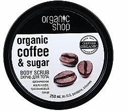 Düfte, Parfümerie und Kosmetik Körperpeeling mit Bio Kaffeeöl und braunem Zucker - Organic Shop Body Scrub Organic Coffee & Sugar