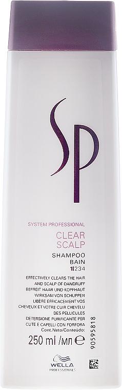 Sanftes Shampoo für schuppige Kopfhaut - Wella SP Clear Scalp Shampoo