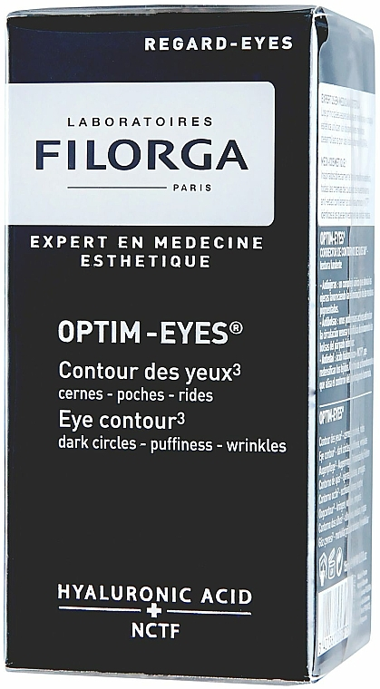Augenkonturcreme gegen Falten, Schwellungen und dunkle Augenringe mit Hyaluronsäure - Filorga Optim-Eyes