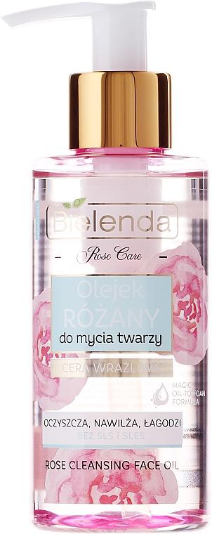 Gesichtsreinigungslotion mit Rosenöl, Hyaluronsäure und Vitaminen C & E - Bielenda Rose Care Cleansing Oil — Bild N1