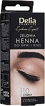 Düfte, Parfümerie und Kosmetik Henna für Augenbrauen und Wimpern schwarz - Delia Eyebrow Tint Gel ProColor 1.0 Black