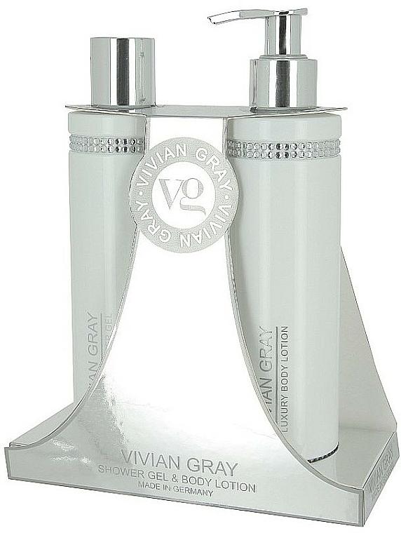 Körperpflegeset - Vivian Gray White Crystals Set (Duschgel 250ml + Körperlotion 250ml)