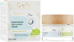 Feuchtigkeitsspendende Gesichtscreme für Tag und Nacht mit natürlichem Kokosnussöl - Delia Botanical Flow Moisturising Day & Night Cream Coconut Oil — Bild N1