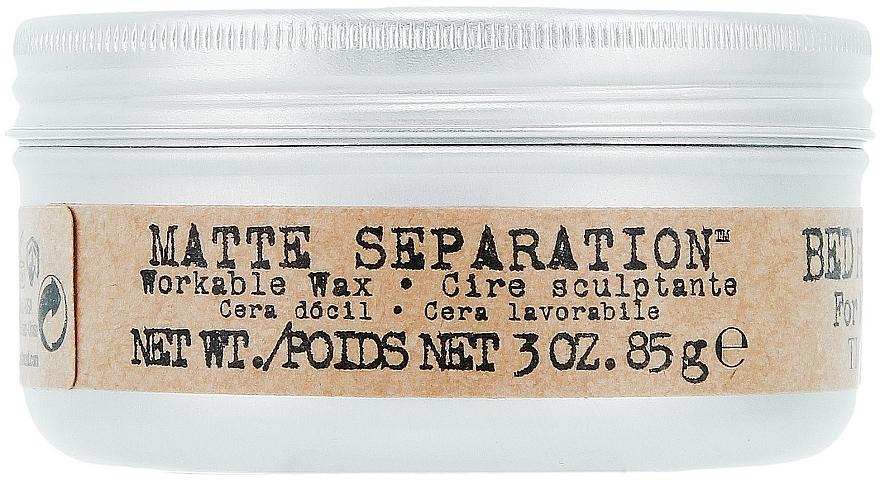 Haarstylingwachs mit Matteffekt - Tigi B For Men Matte Separation Workable Wax