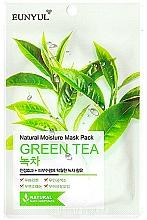 Düfte, Parfümerie und Kosmetik Feuchtigkeitsspendende Tuchmaske für das Gesicht mit Grüntee-Extrakt - Eunyul Natural Moisture Mask Pack Green Tea