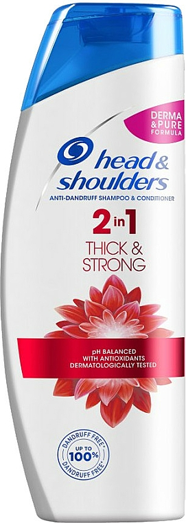 """2in1Anti-Shuppen Shampoo und Conditioner """"Thick & Strong"""" - Head & Shoulders Thick & Strong"""