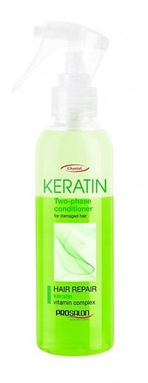 Zweiphasiger Coditioner für geschödigtes Haar mit Keratin - Prosalon Keratin Hair Repair