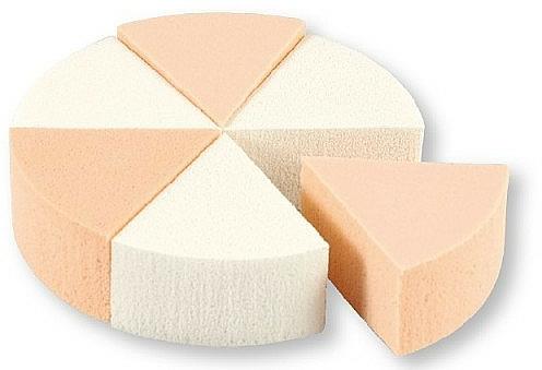 Foundation-Schwamm 35821 weiß, beige 6 St. - Top Choice Foundation Sponges