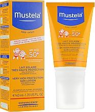 Sonnenschutzmilch für das Gesicht für Babys und Kinder SPF 50+ - Mustela Bebe Enfant Very High Protection Face Sun Lotion SPF 50+ — Bild N1