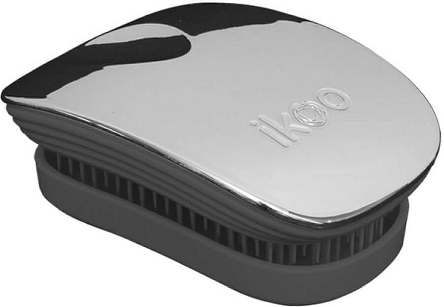 Haarbürste - Ikoo Pocket Oyster Metallic Black — Bild N1