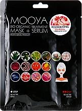 Düfte, Parfümerie und Kosmetik Regenerierende Maske mit Serum in Handschuh-Form mit Seidenproteinen - Beauty Face Mooya Bio Organic Treatment Mask + Serum