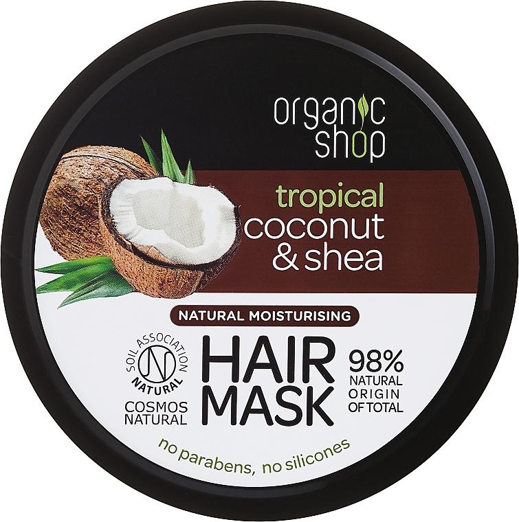 Feuchtigkeitsspendende Haarmaske mit Kokosnuss und Sheabutter - Organic Shop Coconut & Shea Moisturising Hair Mask