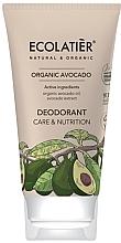 Düfte, Parfümerie und Kosmetik Pflegende Deo-Creme - Ecolatier Organic Avocado Deodorant