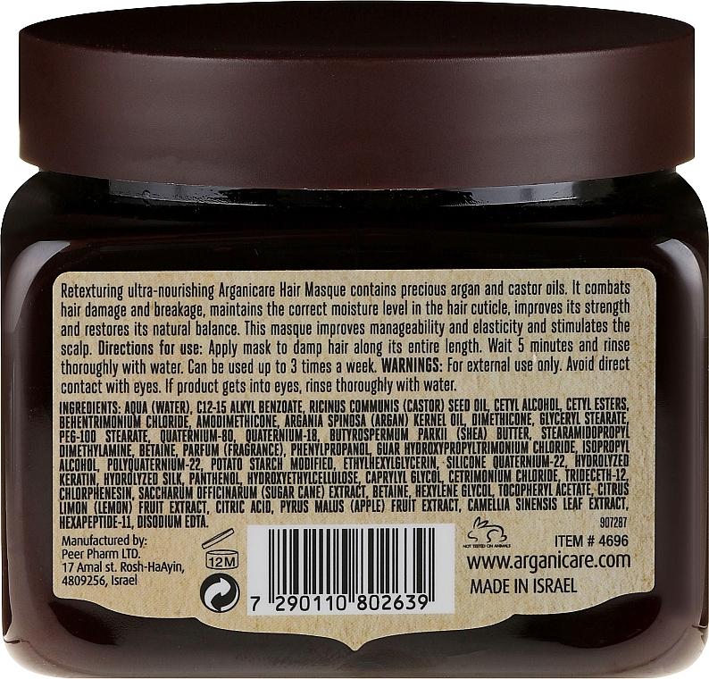 Haarmaske zum Haarwachstum mit Rizinusöl - Arganicare Castor Oil Hair Masque — Bild N4
