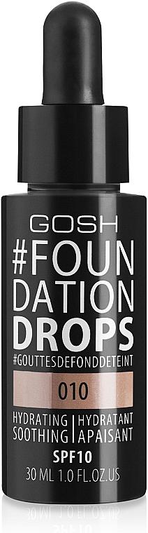 Feuchtigkeitsspendende flüssige Grundierung LSF 10 - Gosh Foundation Drops SPF10