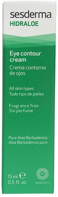 Feuchtigkeitsspendende Anti-Aging Augenkonturcreme mit Aloe - SesDerma Laboratories Hidraloe Eye Contour Cream — Bild N1