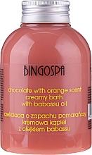 Düfte, Parfümerie und Kosmetik Duschcreme mit Schokolade, Orange und Babassu-Öl - BingoSpa Creamy Chocolate Bath With Orange Oil